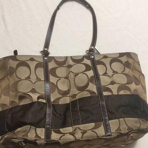 Signature Brown Large Bag